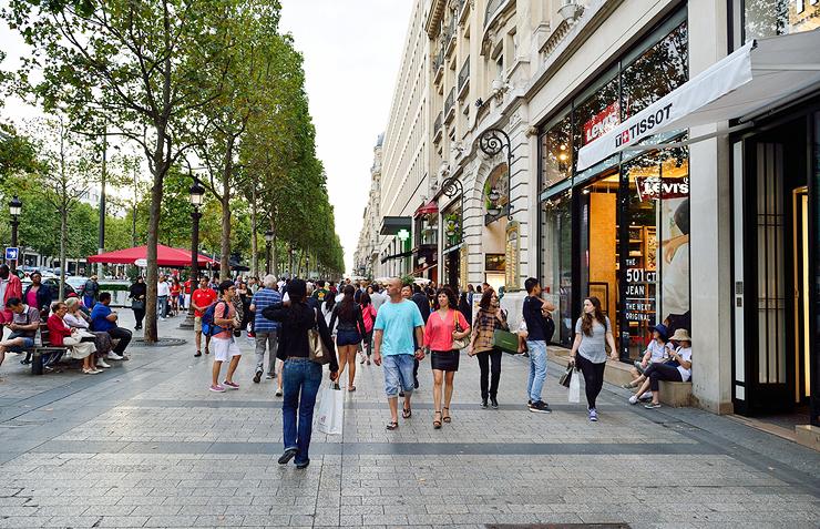 מקום חמישי. שאנז אליזה בפריז, צילום: שאטרסטוק