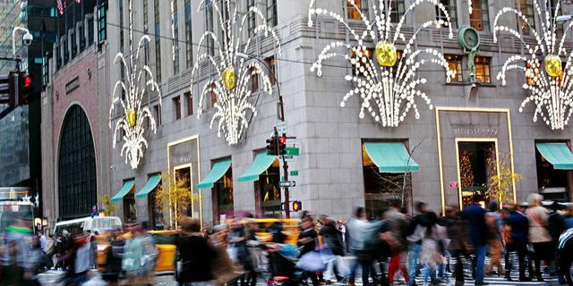 """חנות הדגל של טיפאני בשדרה החמישית במנהטן, ניו יורק. 28אלף דולר למ""""ר, צילום: Getty"""