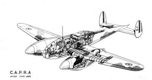 עיצוב ה-CAPRA R40, מטוס קרב דו מושבי, שלא טס מעולם