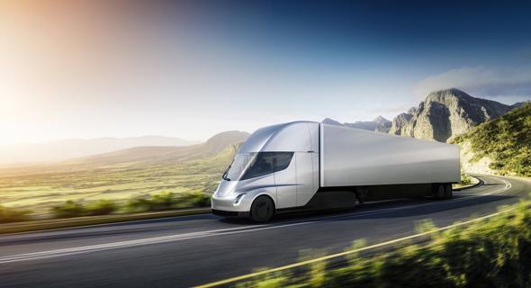 המשאית החשמלית החדשה של טסלה (הדמיה)