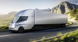 הדמיה של המשאית החשמלית, צילום: טסלה