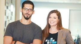 Missbeez co-founders Gil Bouhnick, left, and Maya Gura, right