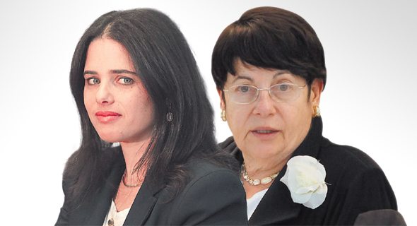 נשיאת בית המשפט העליון לשעבר מרים נאור ושרת המשפטים איילת שקד