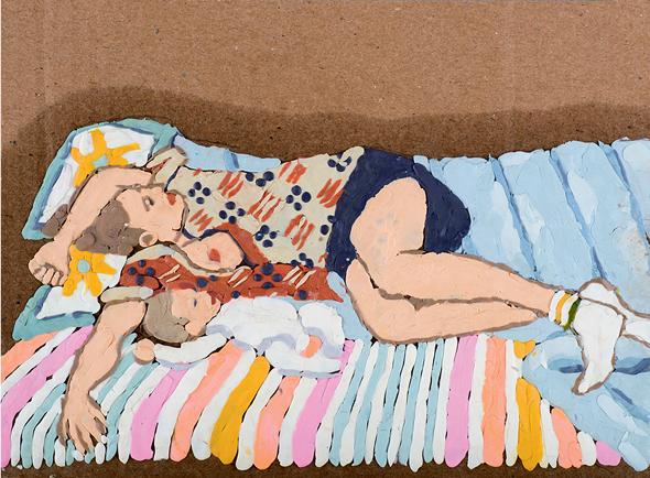 """היצירה """"אם עייפה"""" של טנהאוזר. ריאקציה לעבודות שבהן ציירה נשים דתיות בלבוש מקסימלי"""