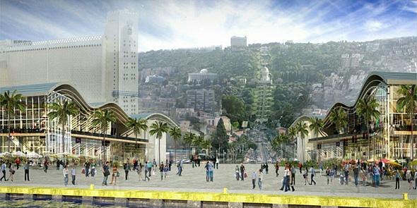 הדמיית הנמל החדש בחיפה, הדמיה: Ami Shinar- Amir Mann Architects & Planners