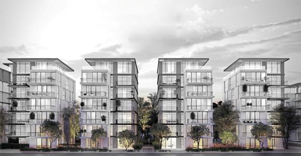 """הדמיית הפרויקט בשכונת אפקה בתל אביב. השטח הבנוי יעמוד על 38 אלף מ""""ר"""