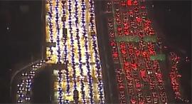 פקק תנועה לוס אנג'לס, צילום: טוויטר CNN
