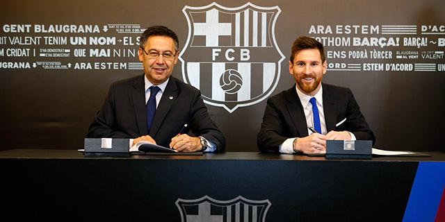 חוזה חדש למסי בברצלונה - עד שנת 2021 לפחות