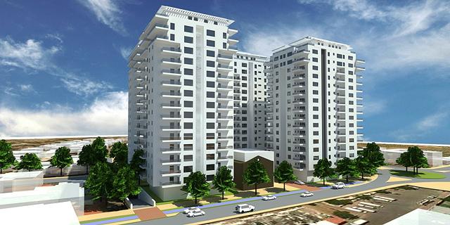 התחדשות עירונית באור יהודה (ארכיון), הדמיה: משרד פרחי צפריר אדריכלים