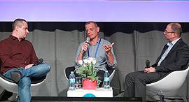 וסייבר מימין: אבירם גביש, משה פירסט ואור הירשאוגה , צילום: אוראל כהן