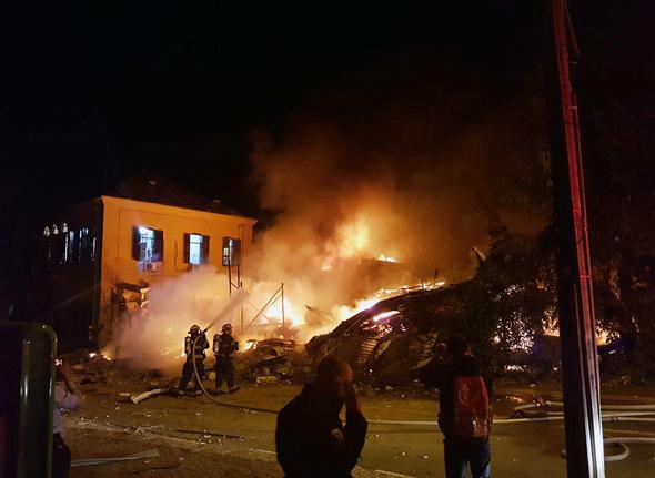 פיצוץ המבנה ביפו, צילום: איתי בלומנטל