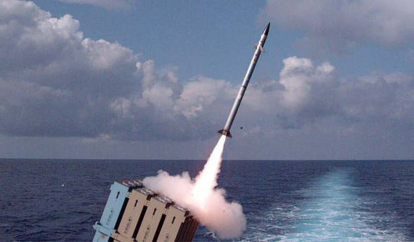 Naval Iron Dome test. Photo: IDF Spokesperson's Unit