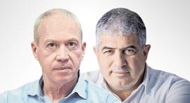 """מימין: ד""""ר סוהיל יאב ראש עיריית טמרה ושר השיכון יואב גלנט"""