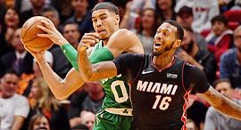 מיאמי בוסטון NBA, צילום: רויטרס