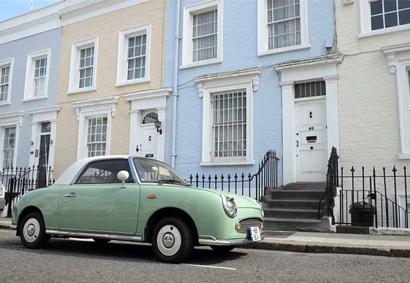 התכוונו לשכונות המרוחקות יותר משוק פורטובלו, כן? שכונת נוטינג היל בלונדון, צילום: JonathanWilkins