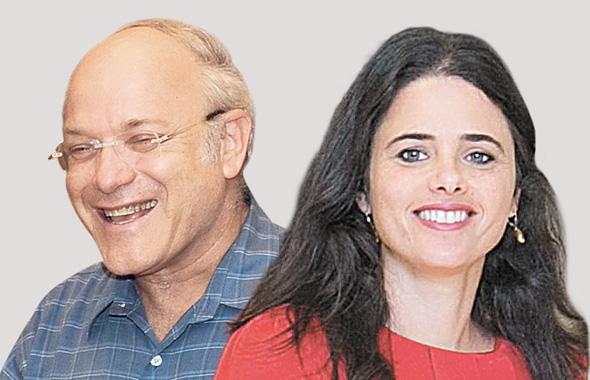 מימין שרת המשפטים איילת שקד והשופט ניל הנדל, צילומים: אוהד צויגנברג, יאיר שגיא