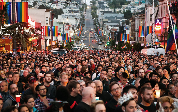 מסיבת רחוב קסטרו, סן פרנסיסקו, צילום: SFGate