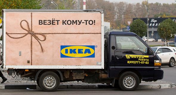 משאית של איקאה, צילום: בלומברג