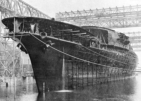 נושאת מטוסים יפנית בשלבי בנייה מתקדמים