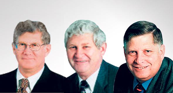 מימין: לוזי, נתן ושי מרגולין