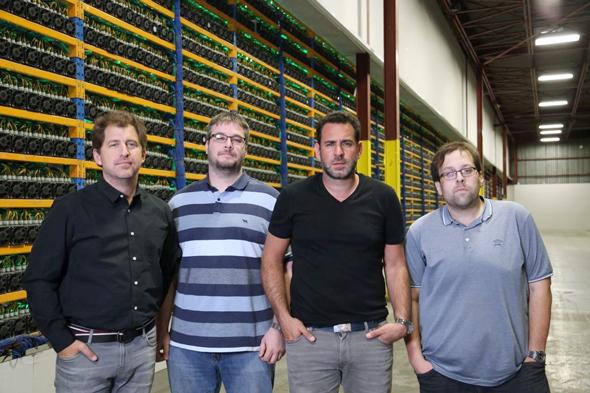 Left to right: Backbone founders Nicolas Bonta, Mathieu Vachon, Emiliano Grodzki, Pierre-Luc Quimper. Photo: Marcelo Lavintmann