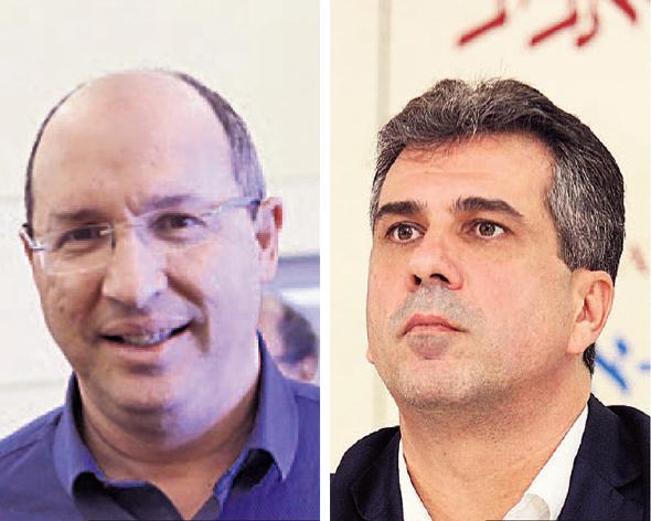 """מימין: שר הכלכלה אלי כהן ויו""""ר ההסתדרות אבי ניסנקורן"""