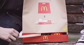 מקדונלד'ס אריזה מגש שקית מזון מהיר, צילום: מקדונדל'ס