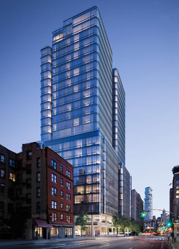 מגדל מגורים רחוב ברום סוהו מנהטן חנייה, צילום: streeteasy