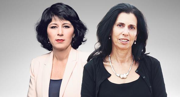 מימין הממונה על שוק ההון דורית סלינגר והמפקחת על הבנקים חדוה בר, צילום: אוראל כהן