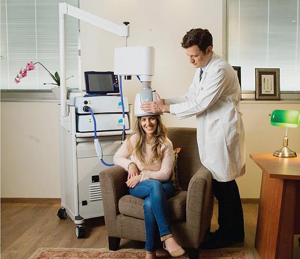 Brainsway's medical devices. Photo:  Brainsway Ltd.