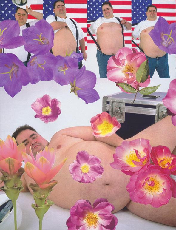 """Bluk Male Flower Collage"". מתוך התערוכה, צילום: יח""צ"