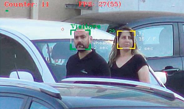 זיהוי פנים מתוך וידיאו שצולם מרחפן של חברת Face-Six
