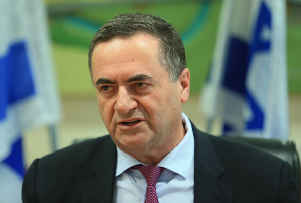 ישראל כץ שר התחבורה מסיבת עיתונאים, צילום: אוראל כהן