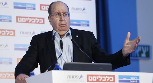 משה בוגי יעלון בוועידה. להקים רכבת לאילת מייד