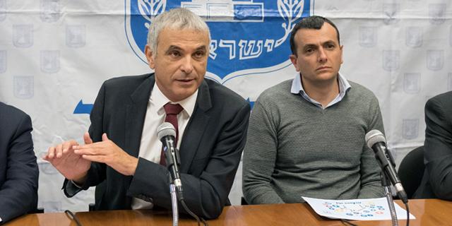 """שי באב""""ד מנכ""""ל האוצר ומשה כחלון שר האוצר, צילום: יואב דודקביץ"""