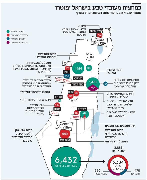 אינפו כמחצית מעובדי טבע בישראל יפוטרו