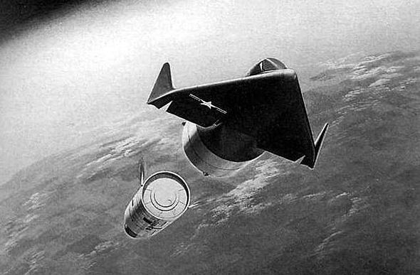 דיינה סור מתנתקת מהטיל שנשא אותה לחלל