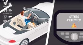 פנאי סימולציה של קריאת מצב הלחץ של הנהג על פי סנסורים של חברת נטירא