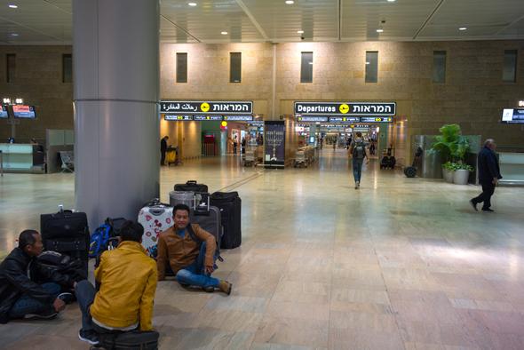 """שביתה נתב""""ג טבע פיטורים טיסות טרמינל 1, צילום: ענר גרין"""