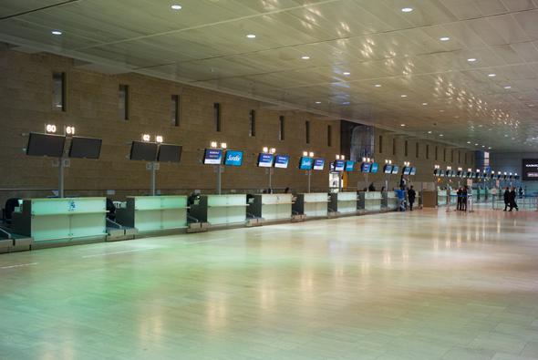"""שביתה נתב""""ג טבע פיטורים טיסות טרמינל 2, צילום: ענר גרין"""
