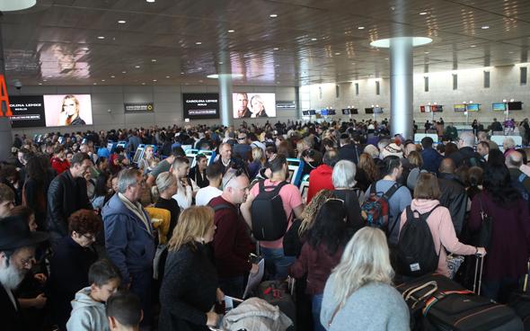 """אחרי ה שביתה נתב""""ג טבע פיטורים טיסות טרמינל , צילום: ענר גרין"""