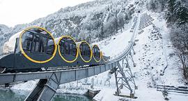 רכבל פוניקולר שוויץ עיירה סטוס הכי תלולה בעולם, צילום: אי פי איי