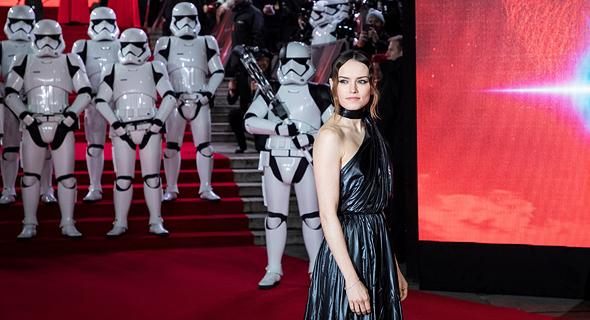 דייזי רידלי בבכורת הסרט האחרון בסדרת מלחמת הכוכבים, צילום: איי פי