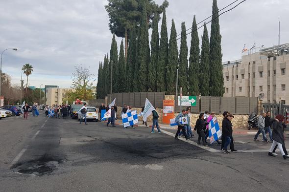 עובדי טבע מפעל המשאפים ירושלים הפגנה, צילום: עמרי מילמן