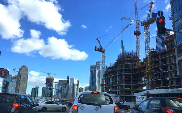 אתרי בנייה של מגדלי משרדים ברמת גן