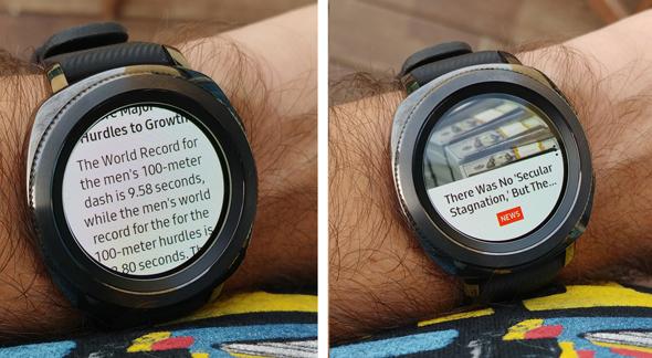 סמסונג שעון חכם Gear Sport מחשוב לביש 6, צילום: ניצן סדן