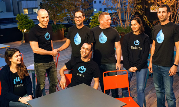 Soluto and Drippler teams. Photo: Noa Meiman