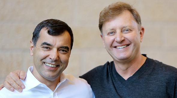 Mobileye's founders Amnon Shashua and Ziv Aviram. Photo: PR