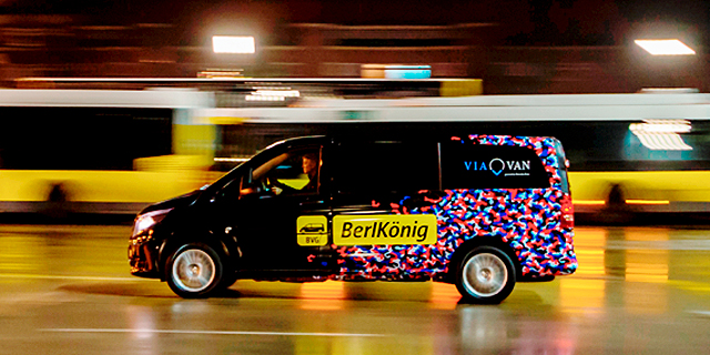 Mercedes-Benz Vans and Ridesharing Company Via Launch Service in Berlin