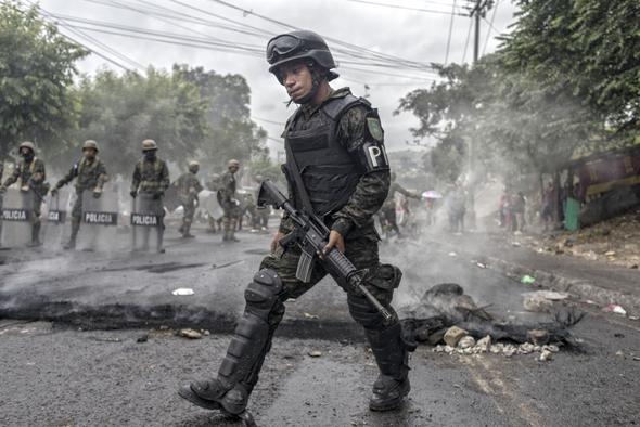 Protests in Honduras. Photo: Bloomberg